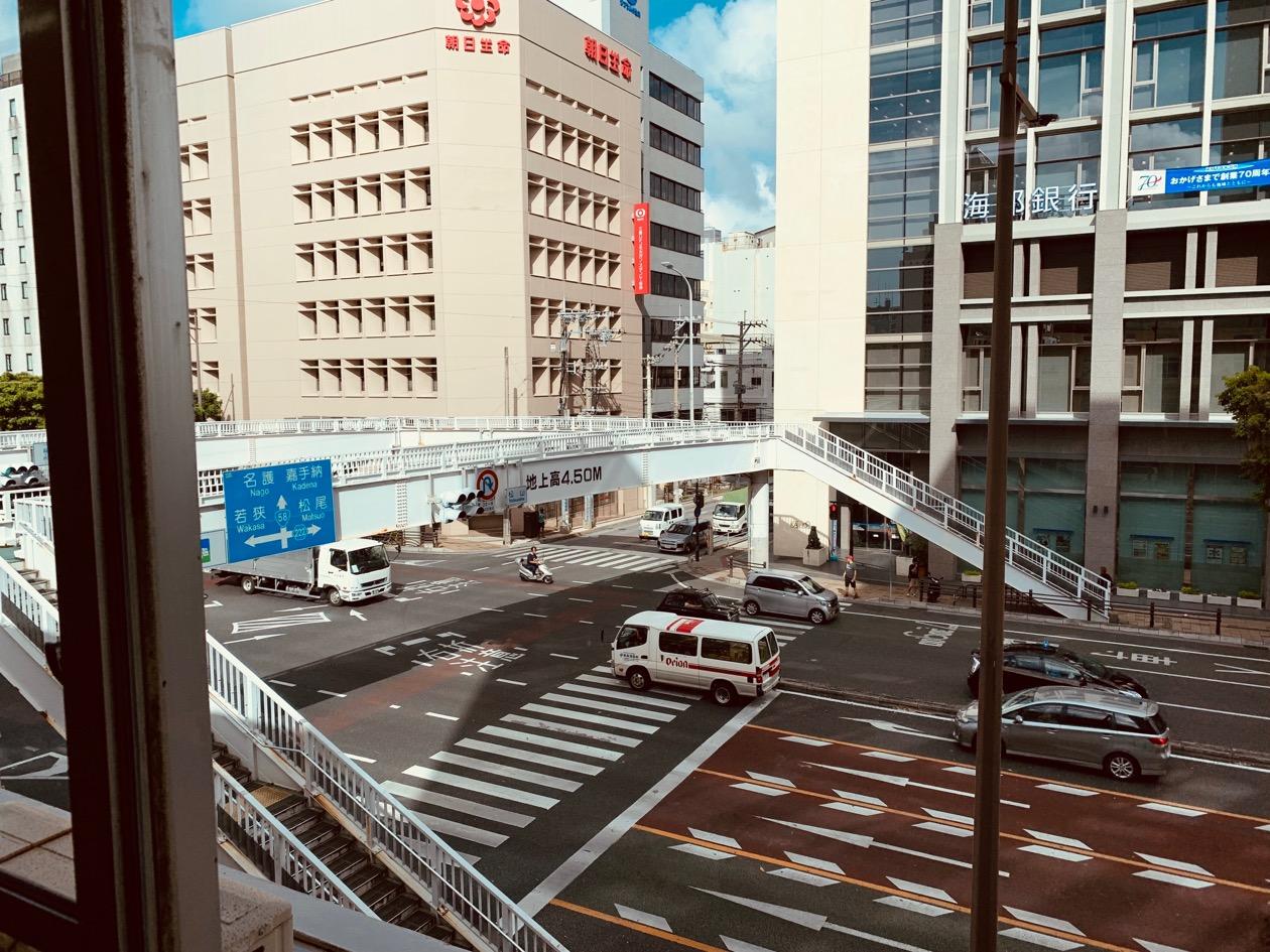 沖縄・那覇のレンタルスペース [OKINAWA PLUS 那覇] 窓からの眺め
